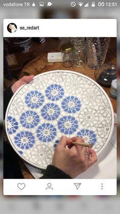 Prick and pounce transfer for maiolica design – Artofit Pottery Plates, Ceramic Pottery, Blue Pottery, Ceramic Tableware, Ceramic Clay, Pottery Painting, Ceramic Painting, Islamic Patterns, Tile Patterns