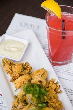 Calamari with crispy cornmeal crust and jalapeño aioli at Crave, Mall of America