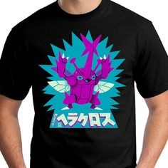 SHINY Heracross Battle Beetle Pokemon T-Shirt