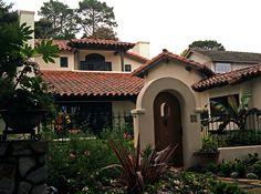 Carmel house  ..showing a heavy Spanish influence