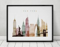 Art prints fine art city skylines posters by ArtPrintsVicky