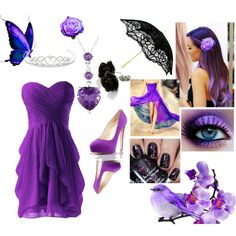 Purplle ellegance by katie-styles4u on Polyvore featuring Brian Atwood, Miadora and Jon Richard