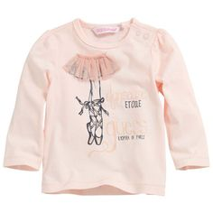 Guess - Long-sleeved pale pink T-shirt - 39683 Baby Ballet, Ballet Kids, T Shirt, Graphic Sweatshirt, Kids Tops, Little Fashionista, Kids Prints, Kids Wear, Shirts For Girls