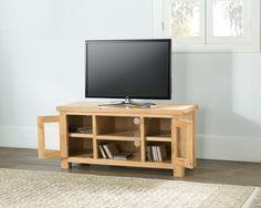 valencia oak large tv unit