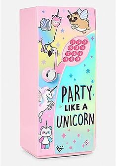 Party Like a Unicorn Mini Locker Unicorn Fashion, Unicorn Outfit, Cute Unicorn, Unicorn Party, Unicorn Birthday, Rainbow Unicorn, Unicorn Rooms, Unicorn Room Decor, Unicorn Bedroom Accessories