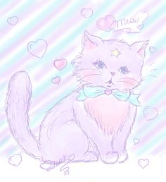 Adorable pastel cat