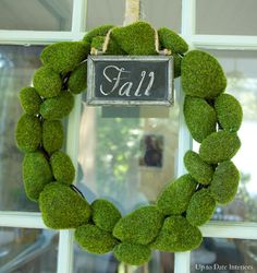Dollar Tree Fall Wreath - Up to Date Interiors