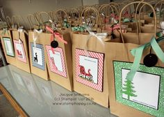 I personally love altering items, and altering a kraft paper bag is so useful! My guests at the upcoming Christmas Extravaganzas will each have one of these cute bags for safely transporting their creations home!  Each bag is embellished...Read more
