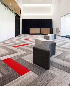 Interface Walk the Plank, Multi Color, Herringbone Install