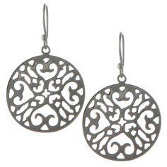 Intricate Silver Heart Earrings [EPA1170641] - $33.00