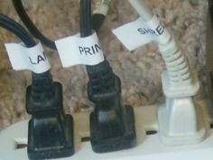 Cord Control by Organize & Decorate Everything