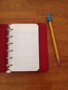 Small red vinyl binder school supplies address book vintage
