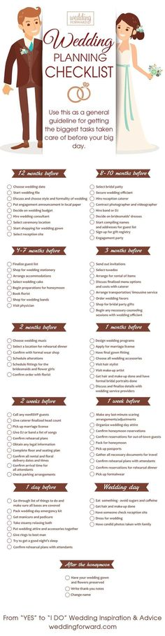 Month Wedding Planning Timeline ❤️ See more: http://www.weddingforward.com/12-month-wedding-planning-timeline/ #weddings
