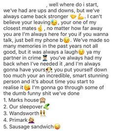 for your boy bestfriend Best Friend Notes, Best Friend Love Quotes, Bff Quotes, Cute Love Quotes, Friendship Quotes, Friend Quotes, Qoutes, Paragraphs For Your Bestfriend, Best Friend Paragraphs