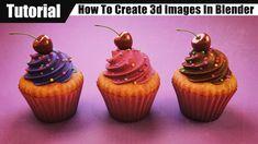 Blender tutorial: Cupcakes