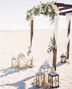 20 Stunning Beach Wedding Ceremony Ideas-Backdrops, Arches and Aisles - EmmaLove. 20 Stunning Beach Wedding Ceremony Ideas-Backdrops, Arches and Aisles - EmmaLove. 20 Stunning Beach Wedding Ceremony I. Beach Wedding Arbors, Wedding Ceremony Ideas, Beach Ceremony, Wedding On The Beach, Beach Wedding Flowers, Wedding Arches, Wedding Backdrops, Fall Wedding, Beach Wedding Ceremonies