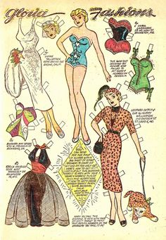 Katy Keene's rival Gloria. I need all of these outfits.