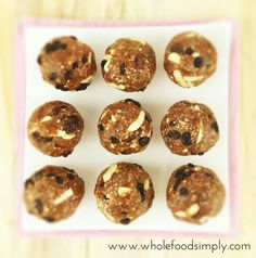 Christmas Bliss Balls #justeatrealfood #wholefoodsimply