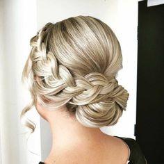 Bridal Hair Updo, Wedding Hair And Makeup, Hair Makeup, Fancy Hairstyles, Bride Hairstyles, Hair Upstyles, Front Hair Styles, Wedding Hair Inspiration, Love Hair