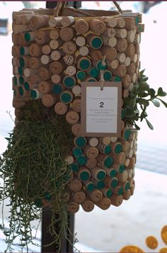 Awesome wine cork planter! http://corks-n-crafts.com