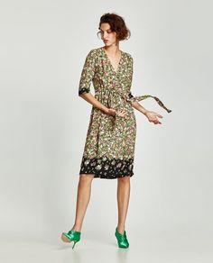 ZARA - WOMAN - CROSSED FLORAL DRESS