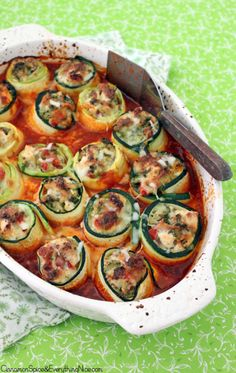 Zucchini Chicken Roll-ups