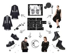 """""""Gothic Lux"""" by bluebanana ❤ liked on Polyvore featuring Dr. Martens"""