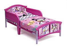 Make her space extra-special with a little help from the Disney Minnie Mouse Toddler Bed! Disney Minnie Mouse Plastic Toddler Bed Disney toddler bed has high-quality plastic construction. Disney Toddler Bed, Mickey Mouse Toddler Bed, Toddler Girls, Minnie Mouse Bedding, Disney Bedding, Kids Furniture, Bedroom Furniture, Disney Furniture, Delta Children