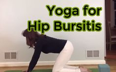 Suzanne Morgan demonstrates 5 yoga poses specifically to help people suffering from hip bursitis. Yoga for Hip Bursitis. This would probably still feel nice for other hip problems. Hip Bursitis Exercises, Bursitis Hip, Yoga Exercises, Hip Flexors, Muscle Stretches, Relaxation Exercises, Qi Gong, Natural Cure For Arthritis, Natural Cures