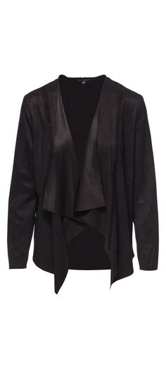 Faith Apparel Suede Open Front Cardigan in Black / Manage Products / Catalog / Magento Admin