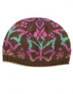 Needle Knit - Butterfly Beanie Pattern - Pinning for future idea to make a loom knit fair isle version of this