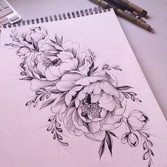 "763 Likes, 11 Comments - Olga Koroleva (@olshery) on Instagram: "" #эскизтату #набросок #эскиз #роза #tattoo #tattoo2me #tattooart #tattoopins #tattooblack…"""