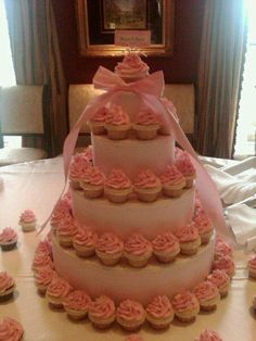 wedding shower cupcake cake!  cowgirlcupcakeco....