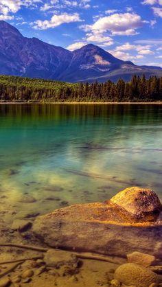 Lake Jasper National Park Alberta Canada iPhone 5 wallpapers, backgrounds, 640 x 1136