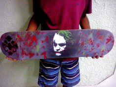 Spray in Skateboard.. Joker
