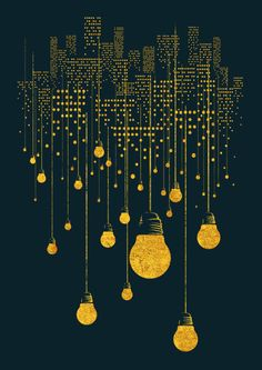 Week 3 Pin 1...This one really caught my eye. The use of negative space makes you think is this a city skyline...or just a bunch of hanging light bulbs?