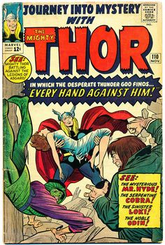 JOURNEY INTO MYSTERY #110, THE MIGHTY THOR, 1964