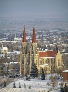 Helena Montana in the winter ! I was married in this church, 1986 ~