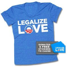 """American Apparel Women's Fitted """"Legalize Love"""" Vintage Tee"""