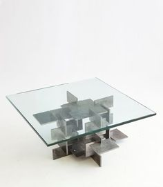 Fran TaubmanHammered Burnished Plate Coffee Table