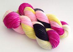 Hand Dyed Yarn  Bonita  Superwash Merino DK  by aVividYarnStudio