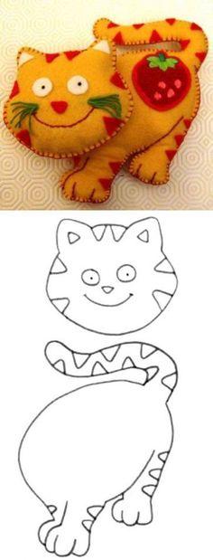Кошка из ткани - Сайт для мам малышей