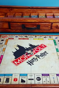 This Harry Potter Monopoly Set Is the Most Gorgeous Thing You& Ever Lay Eyes On Harry Potter Wattpad, Harry Potter Monopoly, Hogwarts Letter, Harry Potter Decor, Diy Games, Game Pieces, Book Of Life, How To Memorize Things, Drinking
