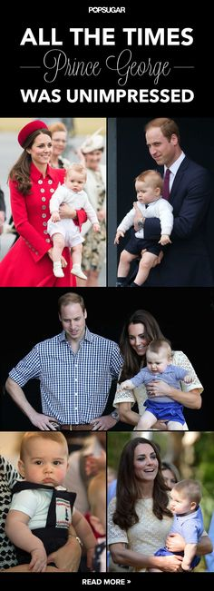 popsugar:  All the Times Prince George was Unimpressed