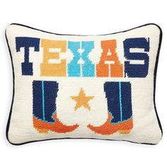Texas Needlepoint Pillow by Jonathan Adler – Manor | Simply Smashing Home Decor