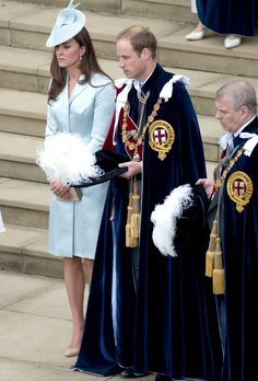 Catherine, Duchess of Cambridge and Prince William, Duke of Cambridge leave St George's Chapel after attending the Most Noble Order of the Garter Ceremony on June 16, 2014 in Windsor, England.