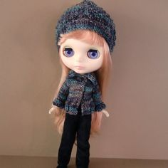 Variegated Sweater or Cardigan Hat and Black Cords by myfairdolly, $34.00