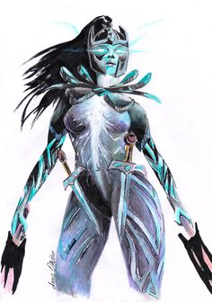 Phantom Assassin fanart, colorpencil by SanjaDotaArt Mortred Juggernaut Dota 2, Dota2 Heroes, Dota 2 Logo, Dota 2 Wallpapers Hd, Defense Of The Ancients, Dota 2 Game, Female Armor, Beautiful Fantasy Art, Fantasy Warrior