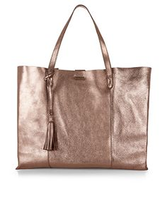Leather Slouchy Shopper | Metallic | Accessorize