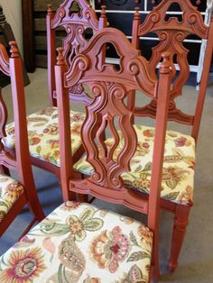 Painted Chairs by Vintage Charm and Restoration - Jalapeño by Sherwin Williams